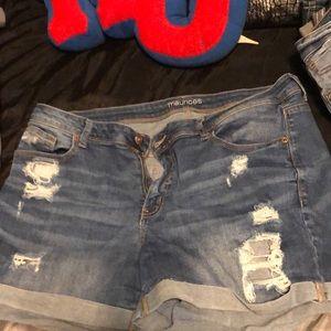 Size 18 jean shorts
